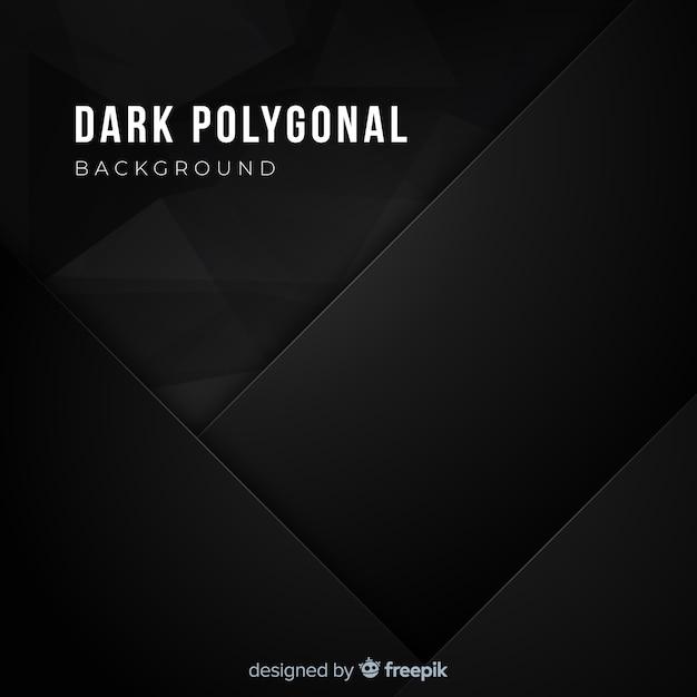 Fundo poligonal escuro realista Vetor grátis