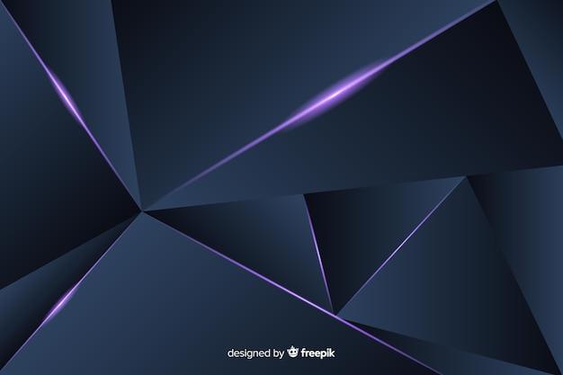 Fundo poligonal escuro triangular Vetor Premium