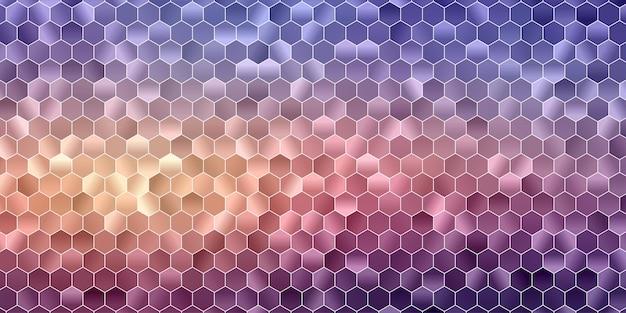 Fundo poligonal geométrico abstrato. forma de hexágono colorido. Vetor Premium