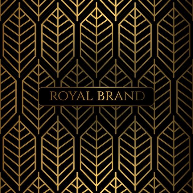 Fundo premium de luxo com cor de ouro Vetor Premium