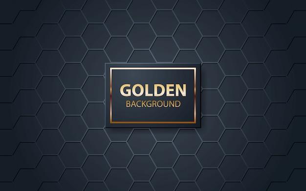 Fundo preto de luxo com padrão poligonal Vetor Premium
