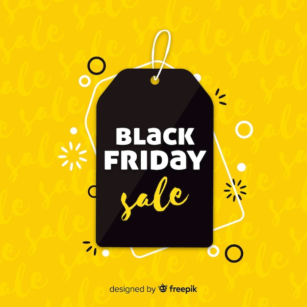 Fundo preto e amarelo preto venda sexta-feira Vetor grátis