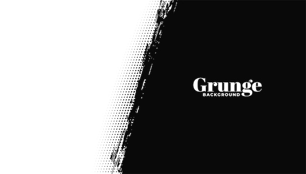 Fundo preto e branco abstrato do grunge Vetor grátis