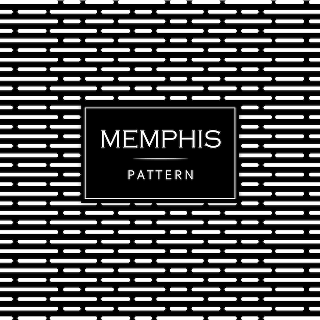 Fundo preto e branco moderno memphis Vetor grátis