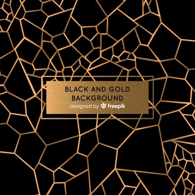 Fundo preto e dourado Vetor Premium