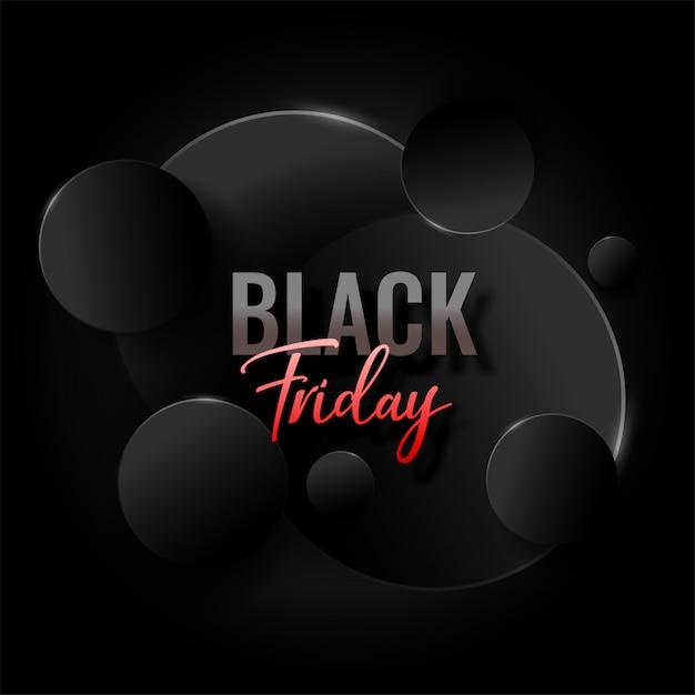 Fundo preto elegante abstrato de sexta-feira Vetor grátis