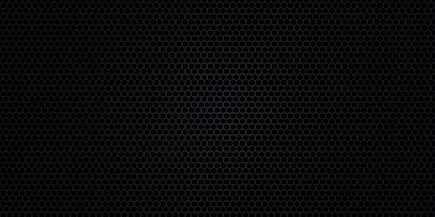 Fundo preto. textura de fibra de carbono escuro. fundo preto aço textura de metal. Vetor Premium