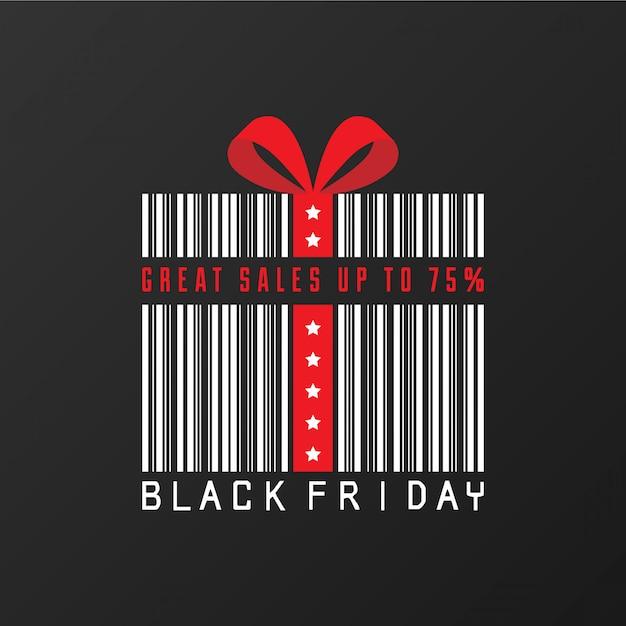 Fundo preto venda sexta-feira Vetor Premium
