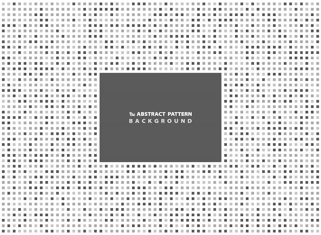 Fundo quadrado cinzento mínimo abstrato do teste padrão. Vetor Premium