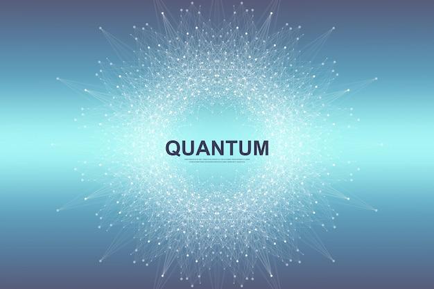Fundo quântico Vetor Premium