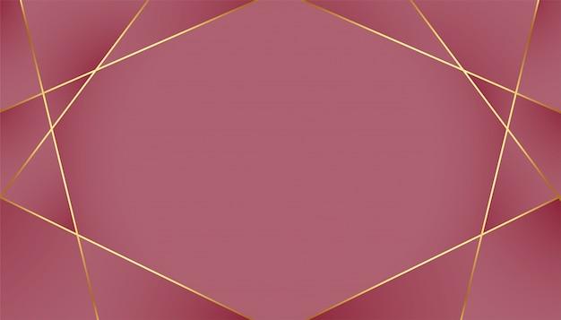 Fundo real luxuoso com linhas douradas de baixo poli Vetor grátis