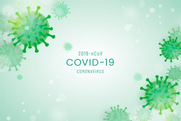 Fundo realista de coronavírus Vetor grátis