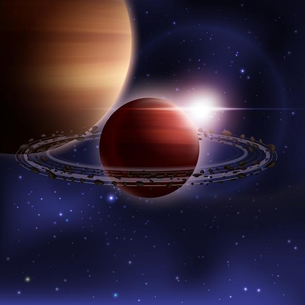 Fundo realista de espaço sideral Vetor grátis