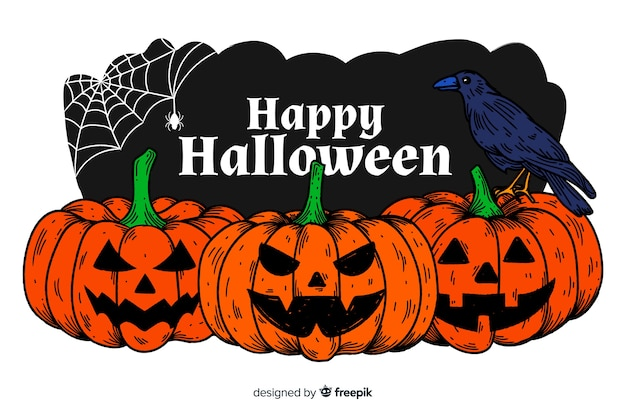 Fundo realista de halloween Vetor grátis