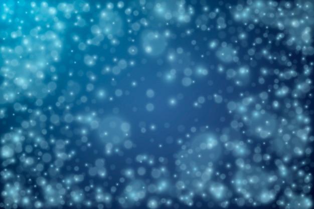 Fundo realista de queda de neve Vetor grátis