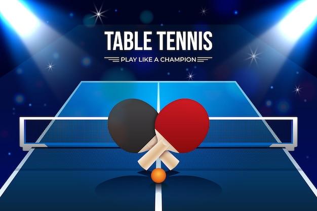 Fundo realista de tênis de mesa Vetor grátis