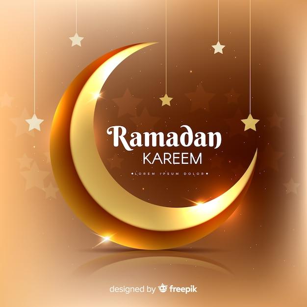 Fundo realista do ramadã Vetor grátis