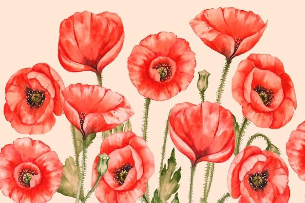 Fundo realista pintados à mão floral Vetor grátis