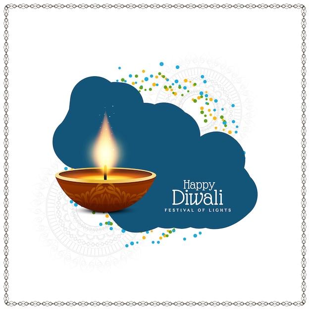 Fundo religioso feliz diwali feliz religiosa Vetor Premium