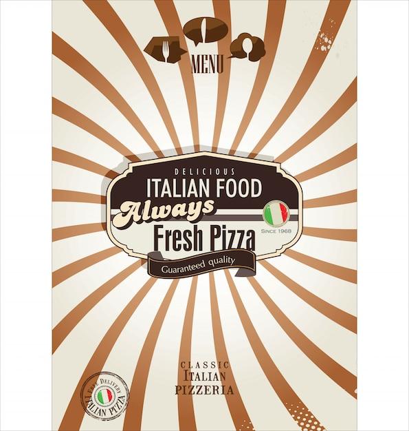 Fundo retrô de pizza Vetor Premium