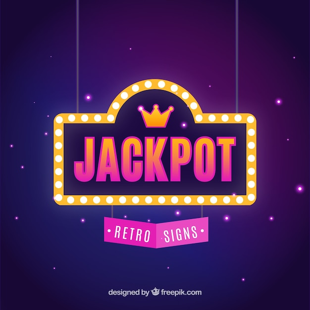 Fundo retro do jackpot Vetor Premium