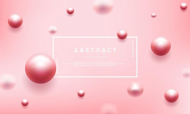 Fundo rosa abstrato com pérolas lindas Vetor Premium