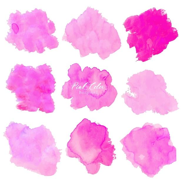 Fundo rosa aquarela abstrata. Vetor Premium