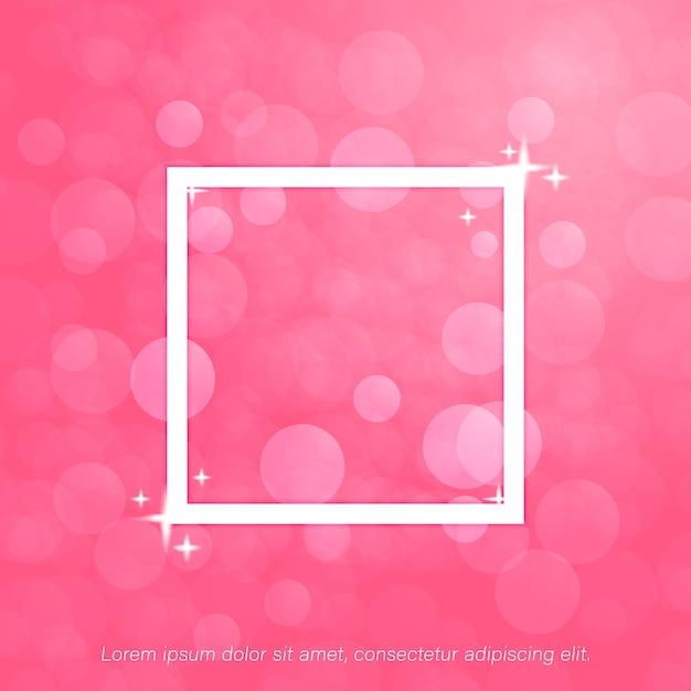 Fundo rosa bokeh Vetor Premium