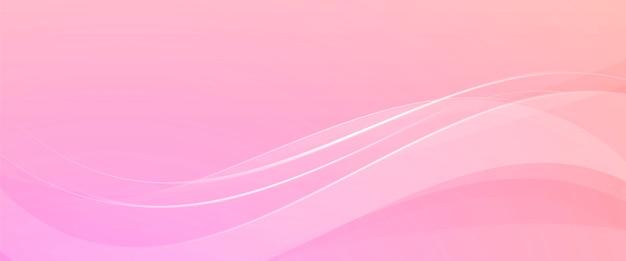 Fundo rosa com ondas abstratas Vetor grátis