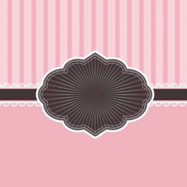 Fundo rosa decorativa com espaço etiqueta para o texto Vetor grátis