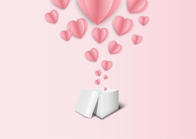 Fundo rosa para festa dos namorados e casamento Vetor Premium
