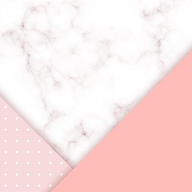 Fundo rosa vetor de mármore. Vetor Premium
