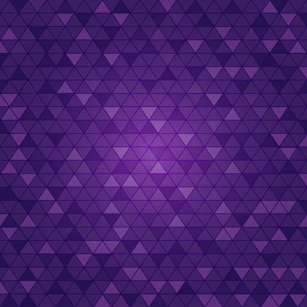 Fundo roxo claro do polígono do triângulo do vetor. Vetor Premium