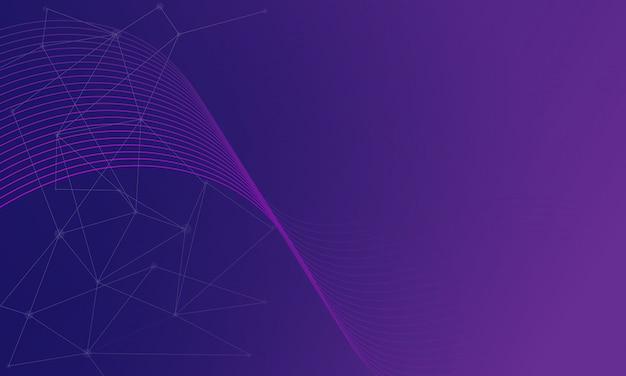 Fundo roxo geométrico abstrato moderno Vetor Premium