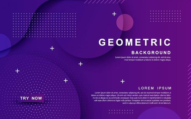 Fundo roxo geométrico texturizado dinâmico Vetor Premium
