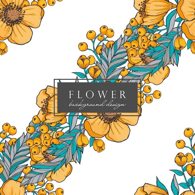 Fundo sem emenda de flores em aquarela Vetor grátis