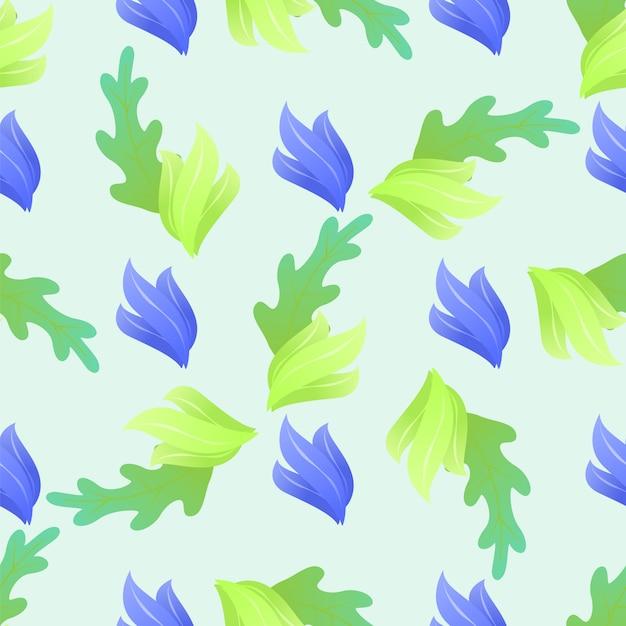 Fundo sem emenda floral abstrato do teste padrão. Vetor grátis
