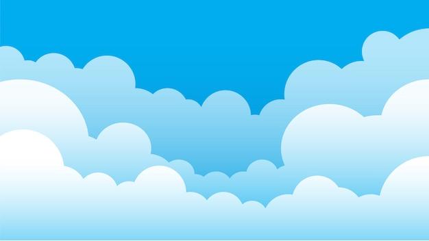 Fundo simples de céu e nuvem Vetor Premium