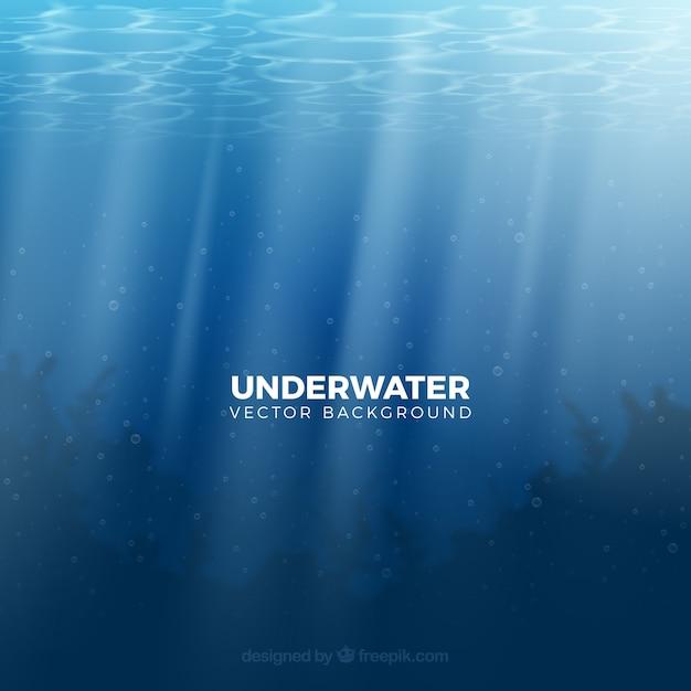 Fundo subaquático em estilo realista Vetor grátis