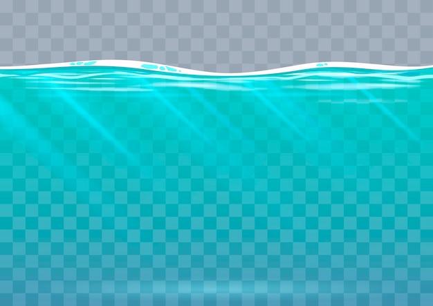 Fundo subaquático em gráficos vetoriais Vetor Premium