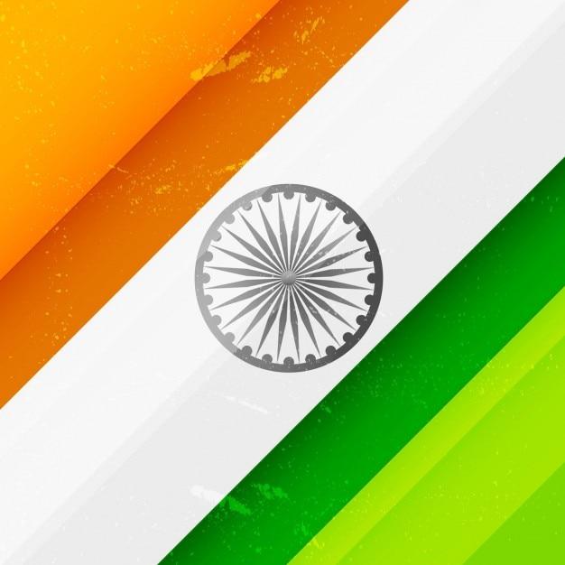 Fundo sujo com cores da bandeira indiana Vetor grátis