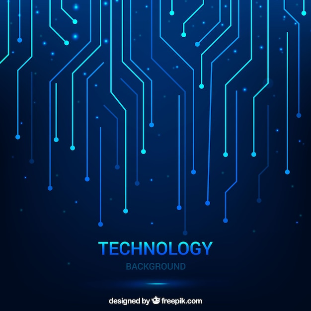 Fundo tecnológico com linhas Vetor grátis
