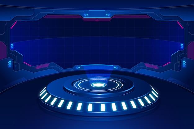 Fundo tecnológico futurista Vetor grátis