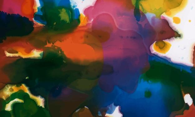 Fundo texturizado aquarela tinta colorida Vetor grátis