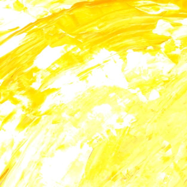 Fundo texturizado de pincel acrílico amarelo e branco Vetor grátis