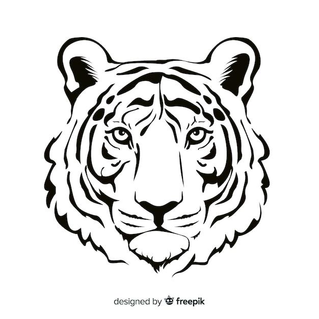 Fundo tigre realista Vetor grátis