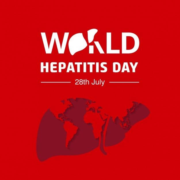 Fundo tipografia dia mundial da hepatite Vetor grátis