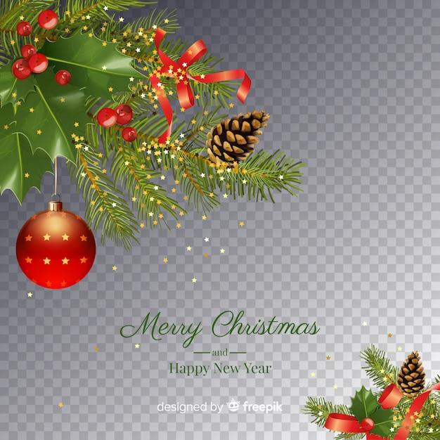 Fundo transparente de natal e ano novo Vetor grátis