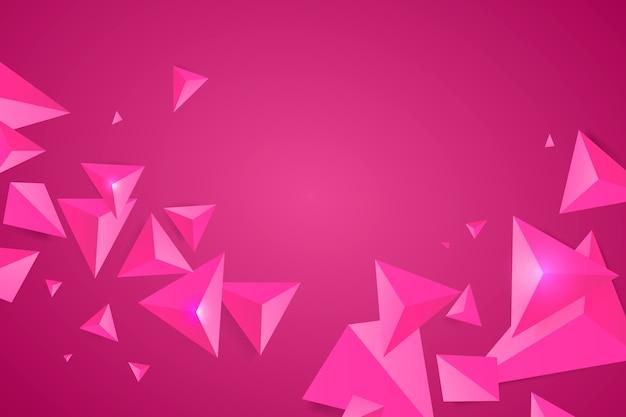 Fundo triângulo rosa com cores vivas Vetor grátis