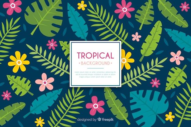 Fundo tropical Vetor grátis